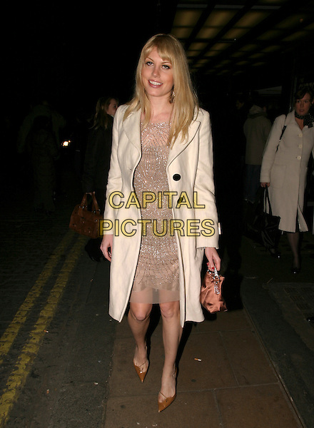 "MERIDITH OLSTROM.""Derailed"" UK film premiere at Curzon Mayfair, London, UK..January 23rd, 2006.Ref: AH.full length white coat silver dress bag purse pink.www.capitalpictures.com.sales@capitalpictures.com.© Capital Pictures."