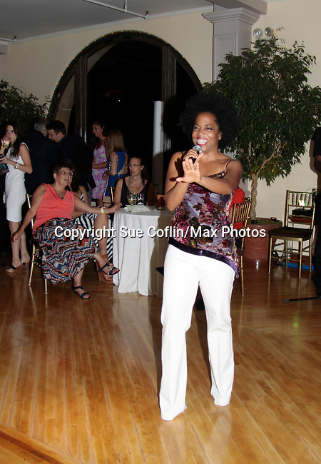 Another World Rhonda Ross sings at Hearts of Gold - 45 A Different Kind of Fund Raiser on July 10, 2014 at Manhattan Penthouse, New York City, New Yor (Photo by Sue Coflin/Max Photos)