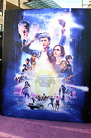 """LOS ANGELES - MAR 26:  Ready Player One Poster at the """"Ready Player One"""" Premiere at TCL Chinese Theater IMAX on March 26, 2018 in Los Angeles, CA"""