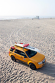 CALIFORNIA, Los Angeles, Rescue Vehicle of the Lifeguards at Santa Monica Beach