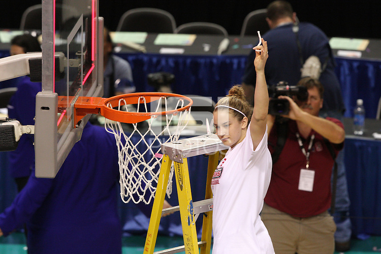 10 March 2008: Stanford Cardinal JJ Hones during Stanford's 56-35 win against the California Golden Bears in the 2008 State Farm Pac-10 Women's Basketball championship game at HP Pavilion in San Jose, CA.
