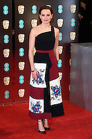 Daisy Ridley at the 2017 EE British Academy Film Awards (BAFTA) held at The Royal Albert Hall, London, UK. <br /> 12 February  2017<br /> Picture: Steve Vas/Featureflash/SilverHub 0208 004 5359 sales@silverhubmedia.com