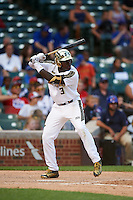 AJ Brown (3) of Starkville High School in Starkville, Mississippi during the Under Armour All-American Game on August 15, 2015 at Wrigley Field in Chicago, Illinois. (Mike Janes/Four Seam Images)