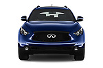 Car photography straight front view of a 2018 Infiniti QX70 S 5 Door SUV