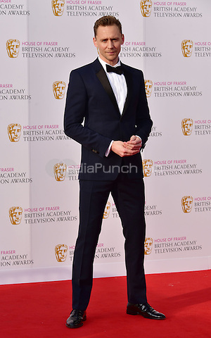 LONDON, ENGLAND - MAY 08: Tom Hiddleston at he British Academy (BAFTA) Television Awards 2016, Royal Festival Hall, Belvedere Road, London, England, UK, on Sunday 08 May 2016.<br /> CAP/JOR<br /> &copy;JOR/Capital Pictures /MediaPunch ***NORTH AMERICA AND SOUTH AMERICA ONLY***