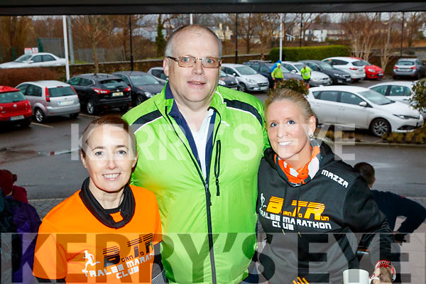Cathy Jordan, Kevin Finn and Marilyn O'Shea, Tralee, who took part in the Optimal Fitness 10 miler and 5k, road race at The Rose Hotel, Tralee, on Sunday morning last.