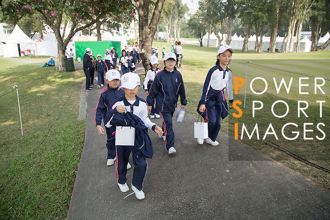 Children are engaging in fun activities on the sidelines of the 58th UBS Hong Kong Golf Open as part of the European Tour on 08 December 2016, at the Hong Kong Golf Club, Fanling, Hong Kong, China. Photo by Vivek Prakash / Power Sport Images