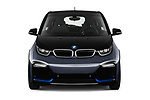 Car photography straight front view of a 2018 BMW i3 S 5 Door Hatchback