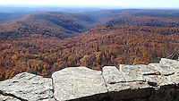NWA Democrat-Gazette/FLIP PUTTHOFF <br /> Stunning views await with every turn during at hike Nov. 30 2016 at White Rock Mountain. A three-mile trail circles the summit of the mountain in the Ozark National Forest.