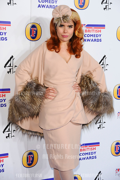 Paloma Faith arriving for the British Comedy Awards 2011 at Fountains Studios, Wembley, London. 19/12/2011 Picture by: Steve Vas / Featureflash