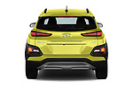Straight rear view of 2018 Hyundai Kona Limited 5 Door SUV Rear View  stock images