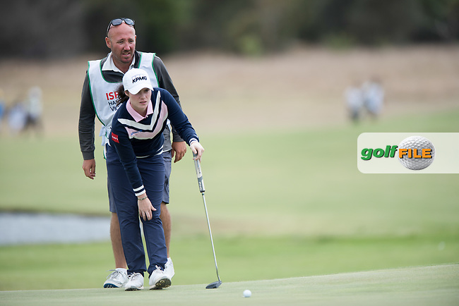 Leona Maguire (IRL) during the 2nd round of the VIC Open, 13th Beech, Barwon Heads, Victoria, Australia. 08/02/2019.<br /> Picture Anthony Powter / Golffile.ie<br /> <br /> All photo usage must carry mandatory copyright credit (© Golffile | Anthony Powter)