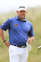 Lee Westwood (ENG) on the 1st green during Saturday's Round 3 of the 2018 Dubai Duty Free Irish Open, held at Ballyliffin Golf Club, Ireland. 7th July 2018.<br /> Picture: Eoin Clarke | Golffile<br /> <br /> <br /> All photos usage must carry mandatory copyright credit (&copy; Golffile | Eoin Clarke)