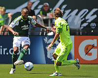 Portland Timbers vs Seattle Sounders during the MLS competition at Jeld-Wen Field, Portland Oregon, July 10, 2011.  The Seattle Sounders defeated the Portland Timbers 3-2.
