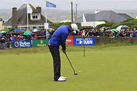 Liam Johnston (SCO) putts on the 18th green during Saturday's Round 3 of the Dubai Duty Free Irish Open 2019, held at Lahinch Golf Club, Lahinch, Ireland. 6th July 2019.<br /> Picture: Eoin Clarke | Golffile<br /> <br /> <br /> All photos usage must carry mandatory copyright credit (© Golffile | Eoin Clarke)
