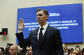 Former special counsel Robert Mueller's top aide in the investigation Aaron Zebley is sworn-in to give testimony before the United States House Permanent Select Committee on Intelligence on the results of his investigation on Capitol Hill in Washington, DC on Wednesday, July 24, 2019.<br /> Credit: Stefani Reynolds / CNP<br /> (RESTRICTION: NO New York or New Jersey Newspapers or newspapers within a 75 mile radius of New York City)