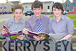 ENGLISH: Jennifer Johnson and Stephen Foley (Beaufort) and Laura Clifford (Miltown) going over the english paper after they completed it as one of the papers for the leaving cert on Wednesday at Presentation secondry school Miltown.....