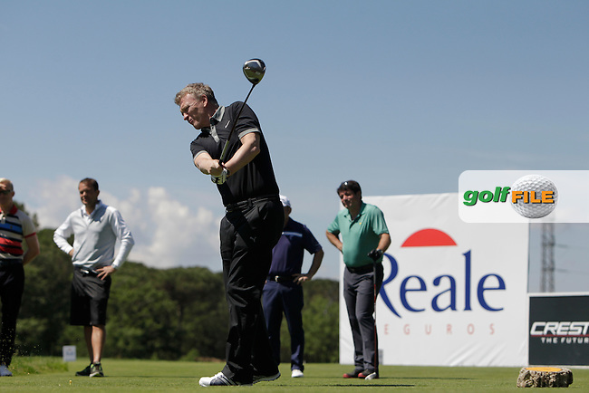 David Moyes (AM) during the Pro-Am in The Open De Espana at The PGA Catalunya Resort on Wednesday 14th May 2014.<br /> Picture:  Thos Caffrey / www.golffile.ie