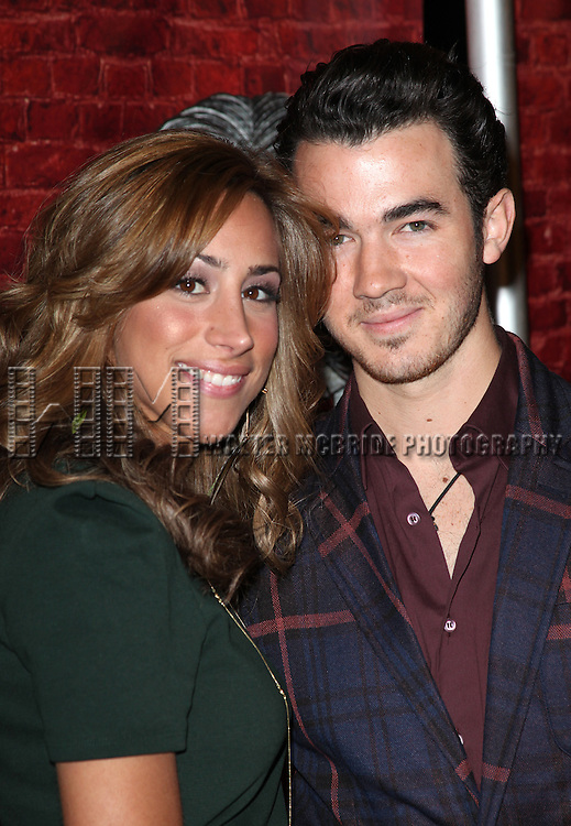 Kevin Jonas & wife Danielle Deleasa.arriving for the Opening Night Performance of the Broadway Revival of 'Godspell' at Circle in the Square Theatre in New York City.