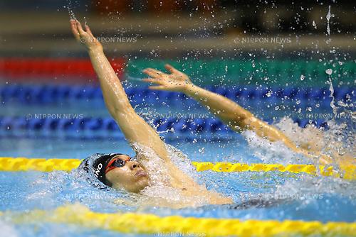 Kosuke Hagino, <br /> APRIL 16, 2017 - Swimming : <br /> Japan swimming championship (JAPAN SWIM 2017) <br /> men's 200m Backstroke final <br /> at Nippon Gaishi Arena, Nagoya, Aichi, Japan. <br /> (Photo by Sho Tamura/AFLO SPORT)