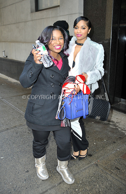 WWW.ACEPIXS.COM<br /> <br /> February 18 2015, New York City<br /> <br /> Toya Wright (L) and Reginae Carter made an appearance at the 'Wendy Williams Show' on February 18 2015 in New York City<br /> <br /> By Line: Curtis Means/ACE Pictures<br /> <br /> <br /> ACE Pictures, Inc.<br /> tel: 646 769 0430<br /> Email: info@acepixs.com<br /> www.acepixs.com