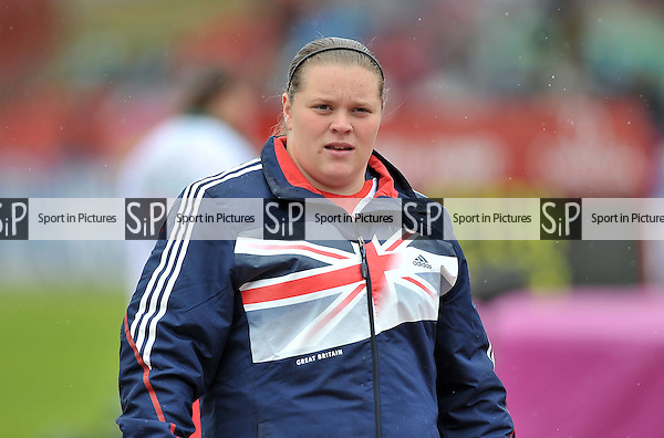 Sophie McKinna (GBR). Womens shot put.  Day 2. European Team Athletics Championships. Gateshead. Tyne and Wear. UK. 23/06/2013. <br />  MANDATORY Credit Garry Bowden/SIPPA - NO UNAUTHORISED USE - 07837 394578
