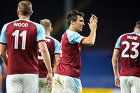 Burnley's Jack Cork celebrates scoring the opening goal<br /> <br /> Photographer Alex Dodd/CameraSport<br /> <br /> UEFA Europa League - Third Qualifying Round 2nd Leg - Burnley v Istanbul Basaksehir - Thursday 16th August 2018 - Turf Moor - Burnley<br />  <br /> World Copyright © 2018 CameraSport. All rights reserved. 43 Linden Ave. Countesthorpe. Leicester. England. LE8 5PG - Tel: +44 (0) 116 277 4147 - admin@camerasport.com - www.camerasport.com