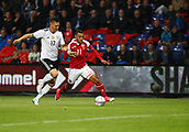 June 6th 2017, Brondby Stadium, in Brondby, Copenhagen, Denmark;  Germany's Niklas Sule (L) and Martin Braithwaite from Denmark in action during the international  match between Denmark and Germany at the Brondby Stadium