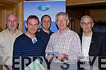 CONRADH: Voting at the Conradh na Gaeilge Ard Fheis, in the Meadowland Hotel, Tralee on Saturday l-r: Colm O Conchubhair, Ristea?rd O Fuara?in, Sea?n O Luanaigh, Brian Caball agus Sea?n Seosamh O Conchubhair..   Copyright Kerry's Eye 2008