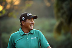 TAIPEI, TAIWAN - NOVEMBER 20:  Lu Chien Soon of Taiwan smiles on the 18th hole during day three of the Fubon Senior Open at Miramar Golf & Country Club on November 20, 2011 in Taipei, Taiwan. Photo by Victor Fraile / The Power of Sport Images