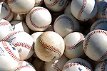 18 March 2007: Washington Nationals spring training baseballs lie in a bin prior to a game against the Florida Marlins at Space Coast Stadium in Viera, Florida...Mandatory Photo Credit: Ed Wolfstein Photo
