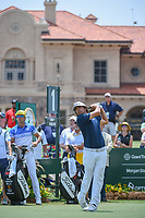 Martin Flores (USA) watches his tee shot on 1 during round 1 of The Players Championship, TPC Sawgrass, at Ponte Vedra, Florida, USA. 5/10/2018.<br /> Picture: Golffile | Ken Murray<br /> <br /> <br /> All photo usage must carry mandatory copyright credit (&copy; Golffile | Ken Murray)