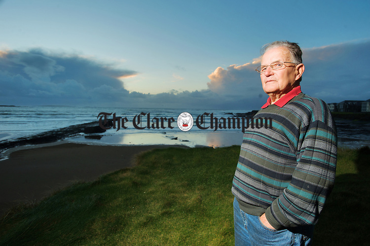 Former lifeguard Paddy Casey revisits Spanish Beach where he was involved in many rescues. Photograph  by John Kelly.