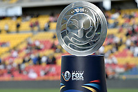 BOGOTA - COLOMBIA, 20-01-2018: El trofeo del torneo es visto previo al encuentro entre Independiente Santa Fe y Deportivo Cali por el Torneo Fox Sports 2018 jugado en el estadio Nemesio Camacho El Campin de la ciudad de Bogotá. / Trhe trophy of the tournament is seen prior the match between Independiente Santa Fe and Deportivo Cali for the Fox Sports Tournament 2018 played at Nemesio Camacho El Campin Stadium in Bogota city. Photo: VizzorImage / Gabriel Aponte / Staff.