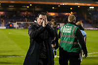 Blackpool manager Gary Bowyer applauds the away fans after the match<br /> <br /> Photographer Craig Mercer/CameraSport<br /> <br /> The EFL Sky Bet League Two Play-Off Semi Final Second Leg - Luton Town v Blackpool - Thursday 18th May 2017 - Kenilworth Road - Luton<br /> <br /> World Copyright &copy; 2017 CameraSport. All rights reserved. 43 Linden Ave. Countesthorpe. Leicester. England. LE8 5PG - Tel: +44 (0) 116 277 4147 - admin@camerasport.com - www.camerasport.com