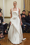 Model walks runway in a Gabrielle bridal gown from the Peter Langner Bridal collection 2017, at the 3 West Club on April 16, 2016 during New York Bridal Fashion Week Spring Summer 2017.