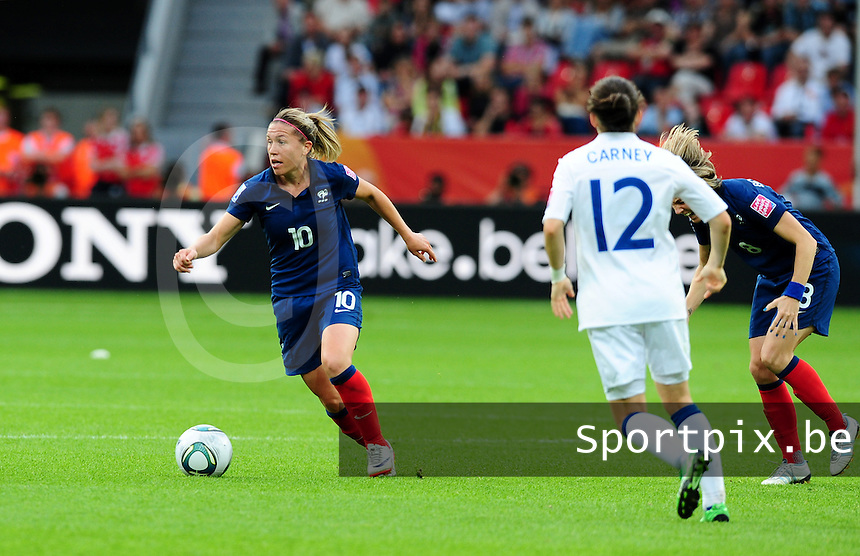 Fifa Women's World Cup Germany 2011 : England - France - at Leverkusen : Camille Abily .foto DAVID CATRY / Vrouwenteam.be
