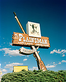 USA, Arizona, Holbrook, commercial restaurant sign