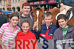 Yvonne OConnell, Lilly Dineen (both Kilgarvan), Skye Kehoe Killarney, Shane OLeary and Jack Hegarty (both Kilgarvan) looking at the ponies at Kenmare Fair on Wednesday..
