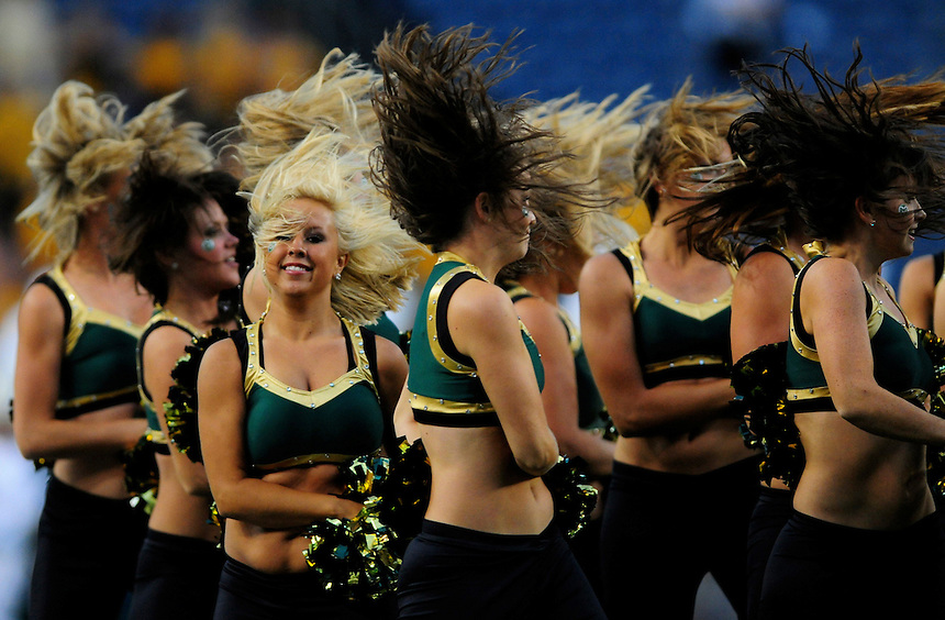 31 Aug 2008: Colorado State University dancers perform at halftime of a game against University of Colorado.