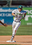 5 September 2016: Vermont Lake Monster catcher Sean Murphy rounds third after hitting a solo home run in the 6th inning against the Lowell Spinners at Centennial Field in Burlington, Vermont. The Lake Monsters defeated the Spinners 9-5 to close out their 2016 NY Penn League season. Mandatory Credit: Ed Wolfstein Photo *** RAW (NEF) Image File Available ***