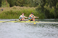 Race: 163  2x (Band 1)  Final<br /> <br /> Peterborough Summer Regatta 2018 - Sunday<br /> <br /> To purchase this photo, or to see pricing information for Prints and Downloads, click the blue 'Add to Cart' button at the top-right of the page.