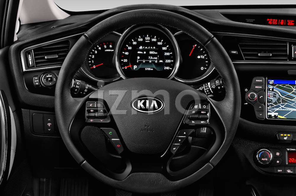 Car pictures of steering wheel view of a 2016 KIA Ceed Sense 5 Door Hatchback Steering Wheel