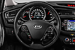 Car pictures of steering wheel view of a 2016 KIA Ceed Sense 5 Door Hatchback Steering Wheel