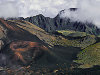 Continuous cloud coverage near Paliku sustain a tropical environment in that area of HALEAKALA NATIONAL PARK on Maui in Hawaii