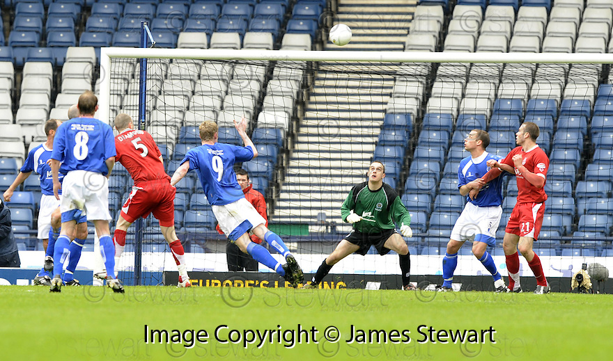 12/04/2008    Copyright Pic: James Stewart.File Name : sct_jspa34_qots_v_aberdeen.ABERDEEN HIT THE BAR AND THE POST LATE ON IN THE GAME.James Stewart Photo Agency 19 Carronlea Drive, Falkirk. FK2 8DN      Vat Reg No. 607 6932 25.Studio      : +44 (0)1324 611191 .Mobile      : +44 (0)7721 416997.E-mail  :  jim@jspa.co.uk.If you require further information then contact Jim Stewart on any of the numbers above........