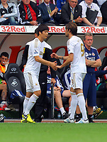 Saturday, 01 September 2012<br /> Pictured: Ki Sung Yueng and Michu of Swansea<br /> Re: Barclays Premier League, Swansea City FC v Sunderland at the Liberty Stadium, south Wales.