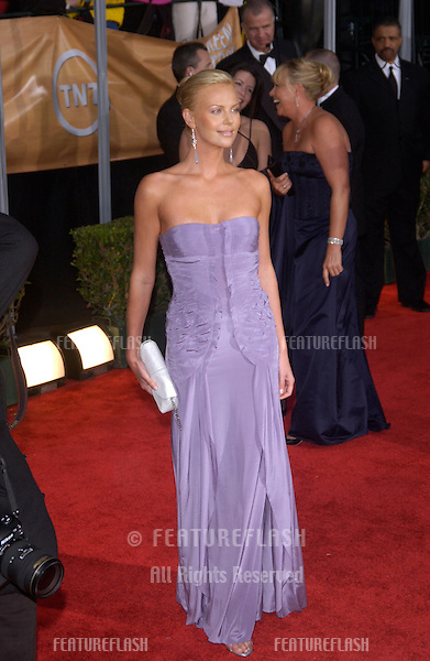 CHARLIZE THERON at the 10th Annual Screen Actors Guild Awards in Los Angeles..February 22, 2004