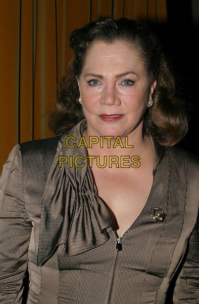 KATHLEEN TURNER.Who's Afraid of Virginia Woolf? - Press Night,.London, England, .January 31st 2006..portrait headshot red lipstick brown jacket brooch .Ref: AH.www.capitalpictures.com.sales@capitalpictures.com.©Adam Houghton/Capital Pictures.