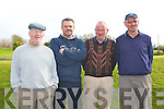 LAWLOR FINAL: Peter Kelly, The Spa, Sean Cunningham, Abbeydorney, Denis Fealy, Lixnaw and John Fitzgerald, Ardfert competing in Scotch 4's in the Lawlor Final at Ardfert Golf Course on Sunday.   Copyright Kerry's Eye 2008